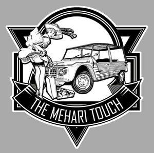 Mehari Touch Sexy Pinup Citroen 2cv Humour 12cm Autocollant Sticker Auto Mb056 Badges, Insignes, Mascottes