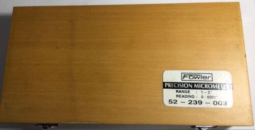 ".0001/"" Graduation Fowler 52-239-002 Outside Micrometer 1-2/"" Range"