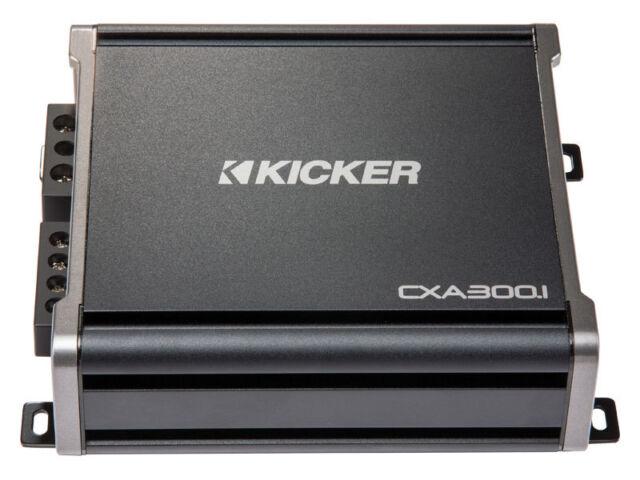 Kicker 43CXA3001 Car Audio Mono Amp 300-Watt Class D Sub CXA300.1 Amplifier