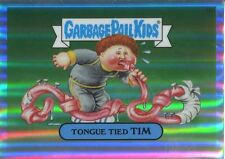 Garbage Pail Kids Chrome Series 2 Refractor Parallel 48a TONGUE TIED TIM