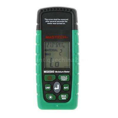 Mastech MS6900 Digital Moisture Temperature Meter Wood Concrete Humidity Tester