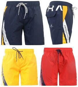 89ff1239 Details about Mens Crosshatch Designer Swim Shorts New Mesh Lined Casual  Beach Swimming Trunks