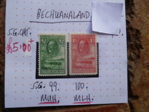 BECHUANALAND-KGV-STAMPS-SG99-amp-100-MUH-MLH