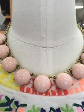 J Crew Chunky Candy Dot Statement Necklace In Ballet Pink NWT & Bag Awesome!