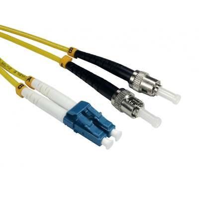 1m Os2 Glasfaser Optisches Kabel Netzwerk Patch Leine Lszh Lc Auf St Einzeln FüR Schnellen Versand