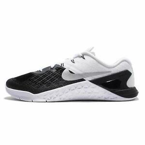 6de3f437983c Nike Metcon 3 BLACK WHITE 852928-005 Crossfit Shoes Cross Training ...