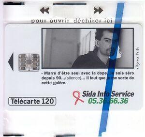 FRANCE-TELECARTE-PHONECARD-120U-F573-SC7-SIDA-INFO-N-PAR-4-NSB-NEUVE-C14