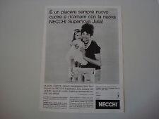 advertising Pubblicità 1961 MACCHINA PER CUCIRE NECCHI SUPERNOVA JULIA