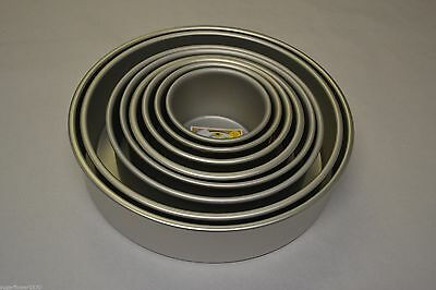 "PME Round Cake Tin pan 3"" deep Sizes 3 to16  inches tiered tins FAST DESPATCH"
