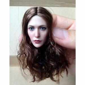 1-6-Elizabeth-Olsen-Scarlet-Hexe-Haar-Curl-Kopf-Sculpt-F-12-039-039-Figur-Modell
