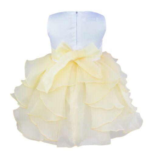 Baby Girls Flower Girls Dress Christening Wedding Birthday Floral Organza Tutu