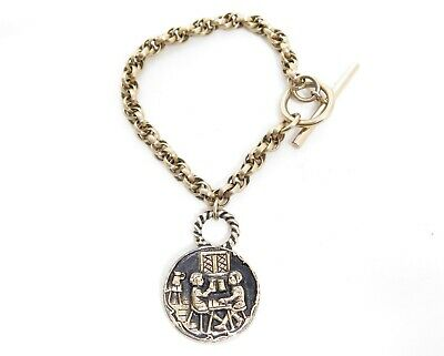 Vintage Novelty Schlitz Beer Milwaukee Charm Silver Pendant Necklace*1970/'s*A774