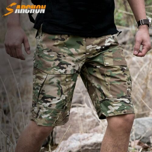 Mens Combat Shorts Army City Military Tactical Cargo Pants Waterproof Camouflage