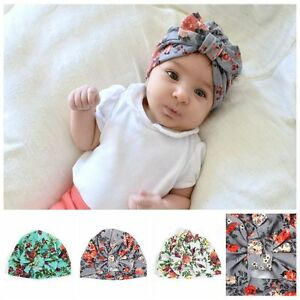 c178749e3 Details about Head Wrap Toddler Beanie Girls Headband Kids Turban Newborn  Caps Baby Hats