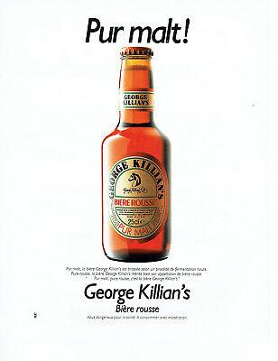 Publicité Advertising 088 1991 Bière Rousse George Killian Pur Malt Collectibles Breweriana, Beer