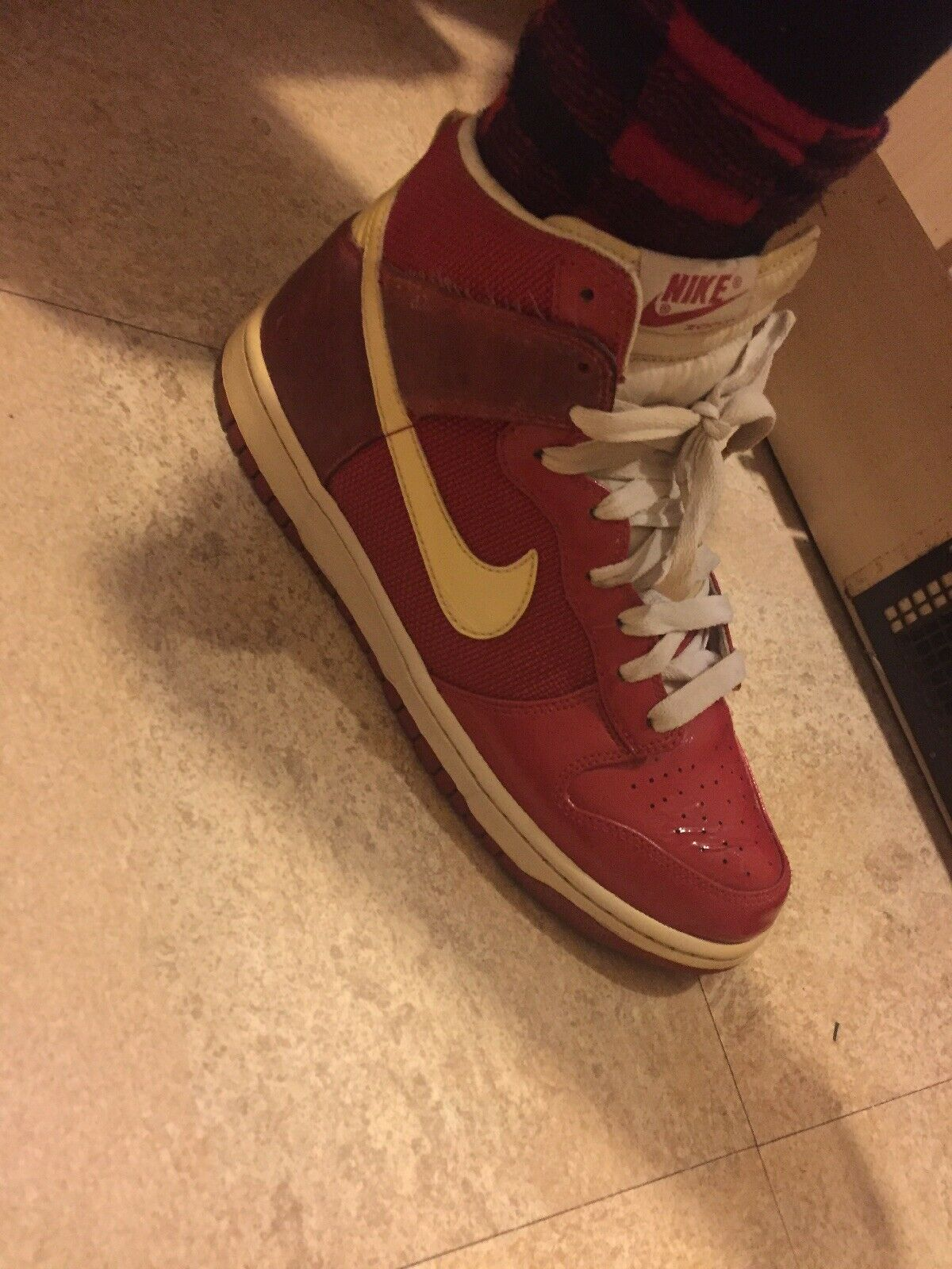 Limited Edition NIKE ZOOM vols dunk rouge & blanc porté Taille 8