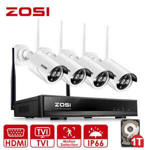 ZOSI-4CH-960P-HD-WLAN-FUNK-Video-Uberwachungskamera-Set-CCTV-Kamera-System-1TB