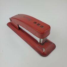 Vintage Swingline Cub Metal Red Stapler Cool Unique Patina
