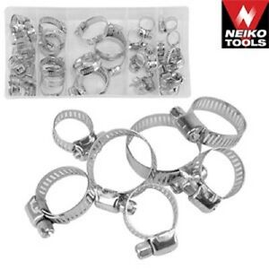 """40pc Hose Clamp Assortment Steel Radiator Heater Adjustable Band 1/2"""" to 1 1/2"""