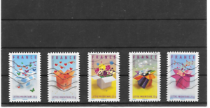 France 2007. stamps messages. serie complete of 5 stamps aa block