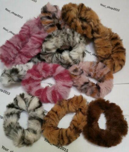 FLUFFY SCRUNCHIES ELASTIC SNAG FREE HAIR BOBBLES HAIR SCRUNCHIE