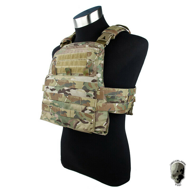 TMC mbav adaptable Chaleco Táctico Molle Portador de Placa pequeño tamaño de cuerpo, Armo Camo
