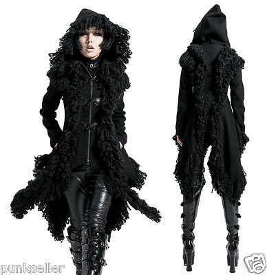 Punk Rave Rock Hoodie Jacket Coat Gothic Kera Visual kei with Horn buttons S-XXL