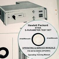 Hewlett Packard Hp 8745a S-parameter Test Set, Ops, Service,training Manual 2vol