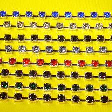 1 Metro de Cadena con Facetadas 4mm  A136B  Bisutería Abalorios Fornituras Chain
