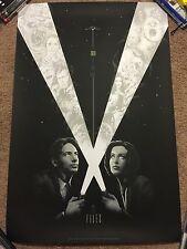 Matt Ryan Tobin X-Files Movie Print Poster Mondo Agent Mulder Scully Glows Dark!