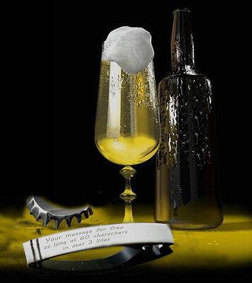 Large Personalised Chrome Bottle Opener - Free Engraved - Wedding Xmas Gift