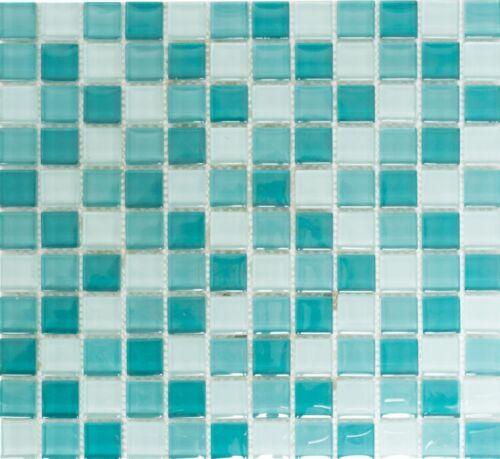 72-0602/_b Mosaik Fliese Glasmosaik mix hellgrün//grün Wand Duschwand Bad Art