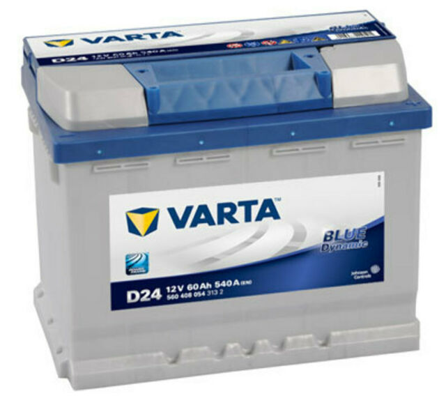 Batería Varta D24 - 60Ah 12V 540A. 242x175x190