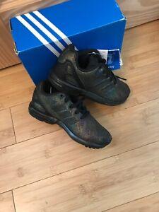 Adidas ZX Flux Trainers Size 11 Kids BNIB Black Floral