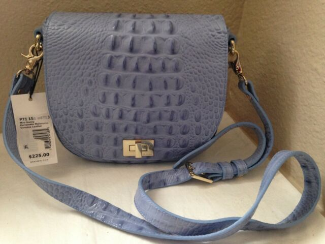 Brahmin Mini Sonny Leather Shoulder Crossbody Bag In Periwinkle Melbourne