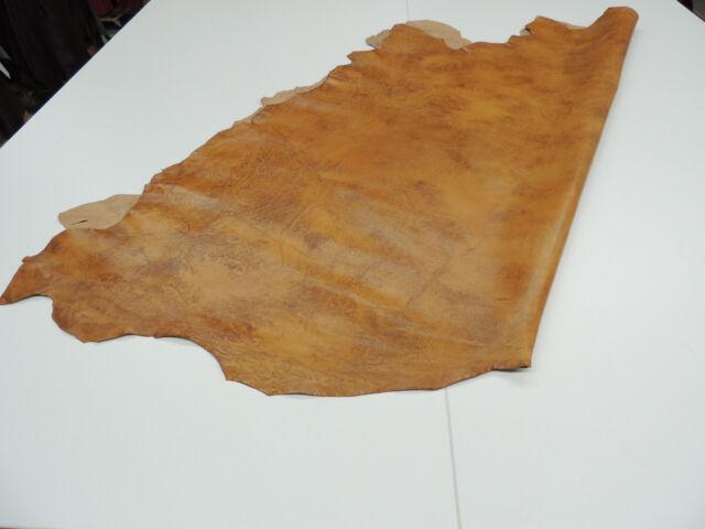 Büffelleder Antikleder cognac Polsterleder Taschenleder Leder 1,50 qm.
