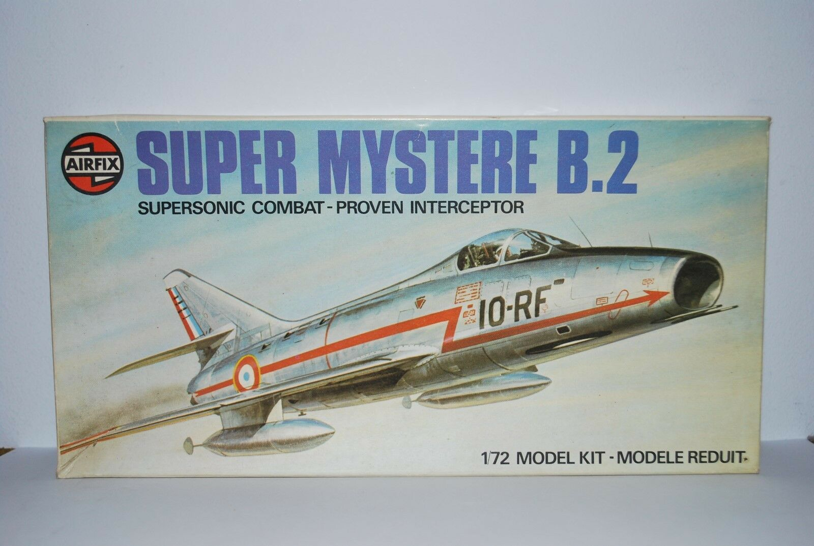 Vintage AirFix Super Mystere B.2 1 72 Scale Model, Rare.