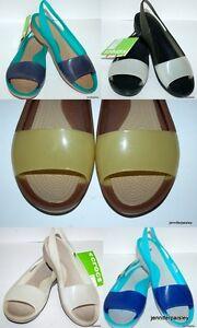 6018638b5 CROCS NEW LADIES COLORBLOCK FLAT Sandals Slip On Shoes Croslite rp ...