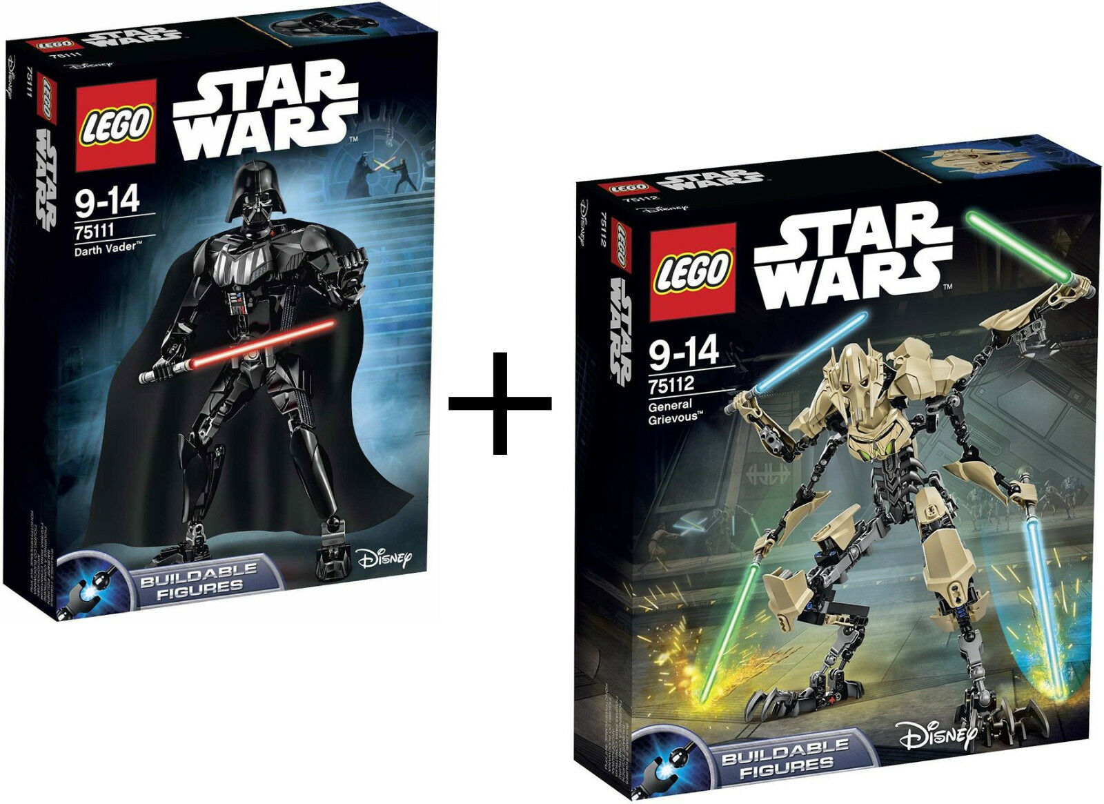 LEGO STAR WARS DARTH VADER 75111 + GENERAL GRIEVOUS 75112 - NUEVOS, SIN ABRIR
