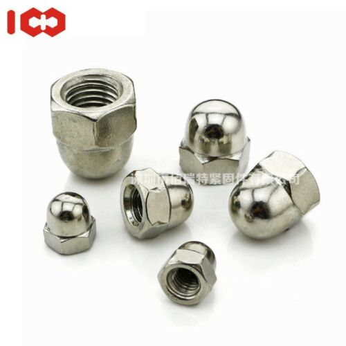 M3 M4 M5 M6 M8 M10 M12 A2 STAINLESS STEEL DOME NUTS HEX DOMED NUTS FREE SHIPPING