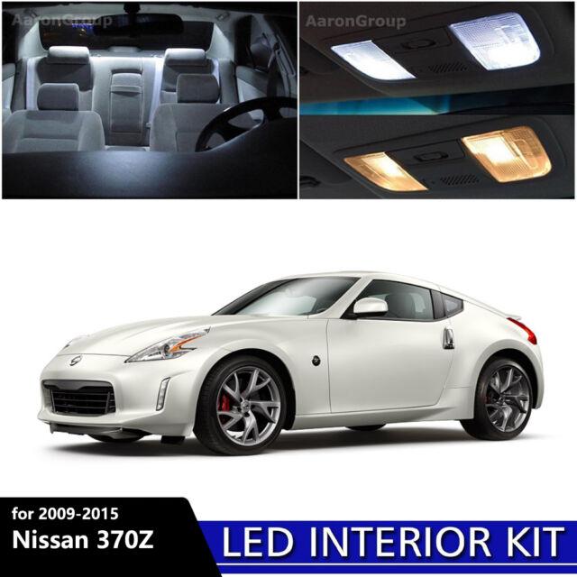 9pcs White Interior Led Light Package Kit For 2009 2015 Nissan