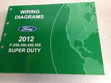 2012 Ford TRUCK F-250 F350 F250 450 550 Wiring Electrical Diagram Manual OEM