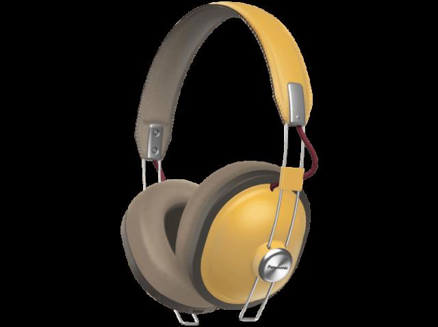 Auriculares inalámbricos - Panasonic RP-HTX80B, Bluetooth, 40 mm, Micro, crema