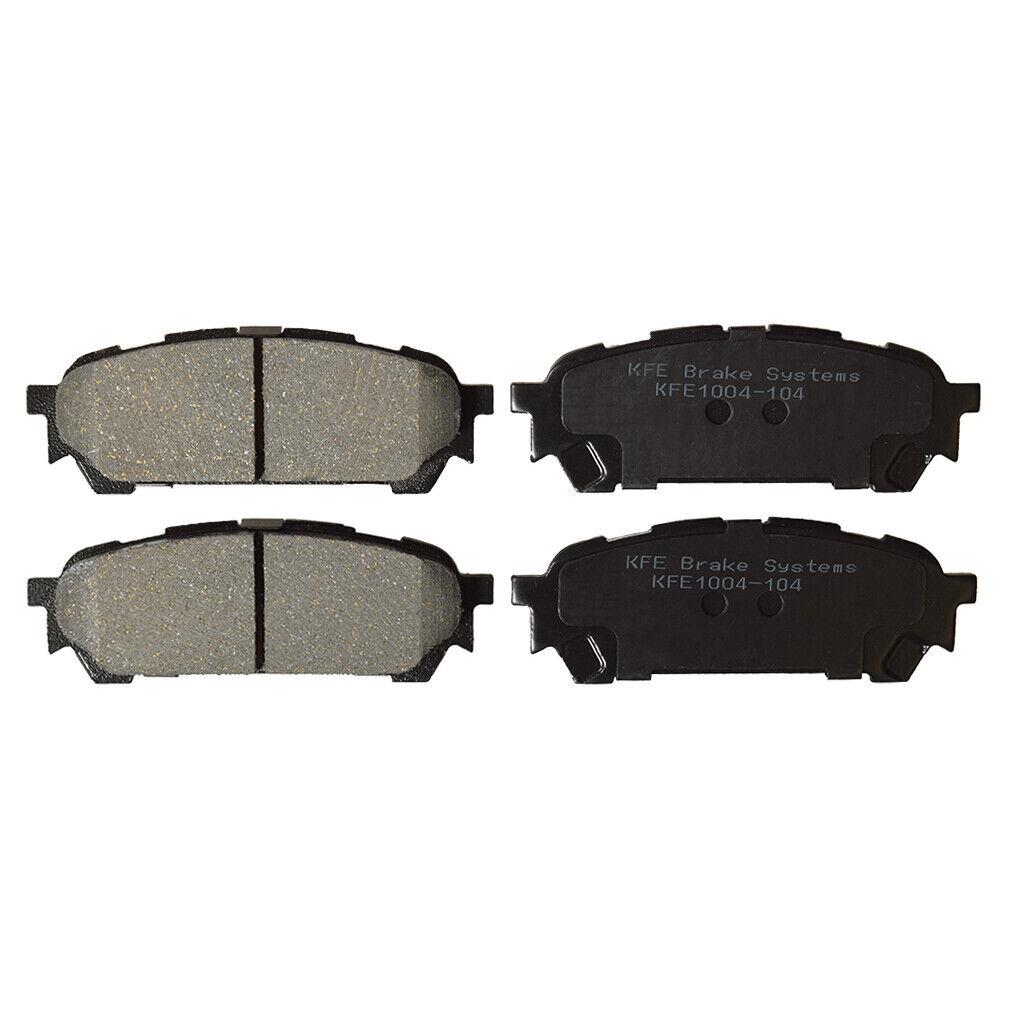 Premium Ceramic Disc Brake Pad FRONT REAR NEW Set With Shims KFE785 KFE974