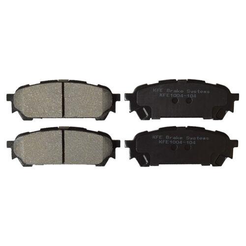 Premium Ceramic Disc Brake Pads REAR NEW Set With Shims Fits Subaru KFE1004-104