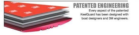 8/' Long BlackMegaware Keel Guard Shield Boat Bow Protector