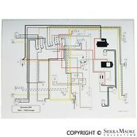 Full Color Wiring Diagram, Porsche 356 Pre-a With Pull Switches (51-52)