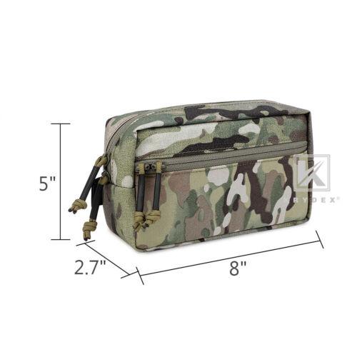 KRYDEX Tactical Drop SACK Pouch Dump Pack Bag Hook /& Loop For Chest Rig Multicam