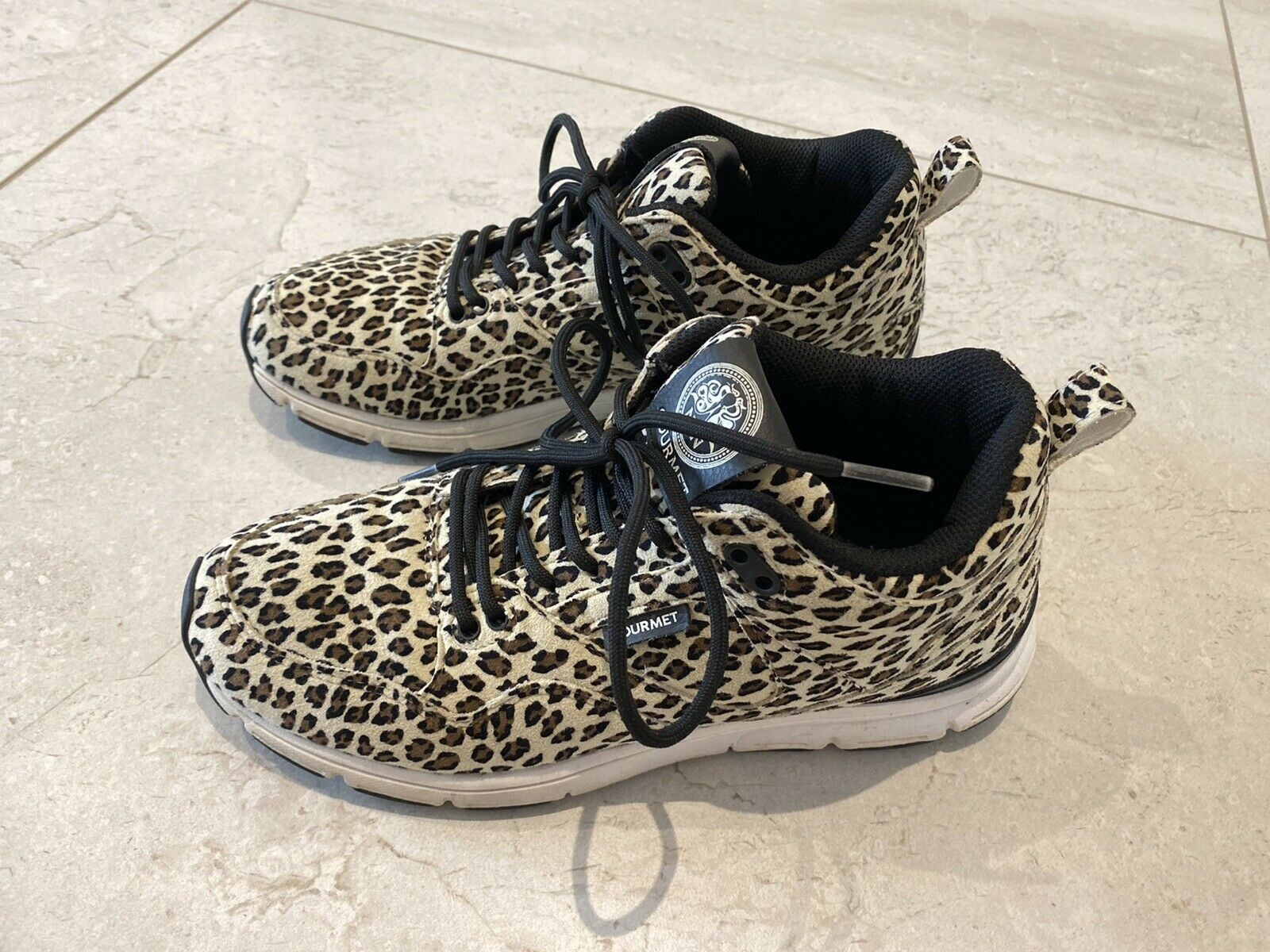 Gourmet leopard print sneakers trainers