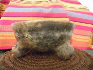 Chrome-South-America-Pre-Colombian-Native-Pottery-3-leg-Tripod-Rattle-Bowl